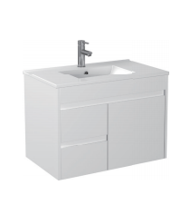 Gloss White Wall Mounted Basin 750mm - Icladd Solid PVC Furniture