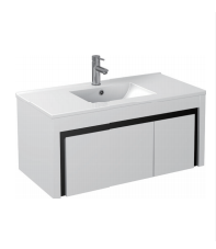 Gloss White Wall Mounted Basin 900mm - Icladd Solid PVC Furniture