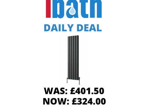 DEAL OF THE DAY: BELVA ALUMINIUM RADIATOR - 1800 X 412 DOUBLE ANTHRACITE