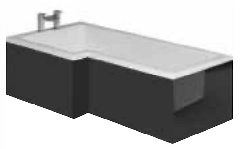 Solarna Wooden 1700mm Bath Panel Shad0