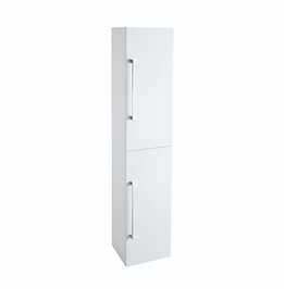 Idon 300 Gloss White 2 Door Tall Storage Cabinet