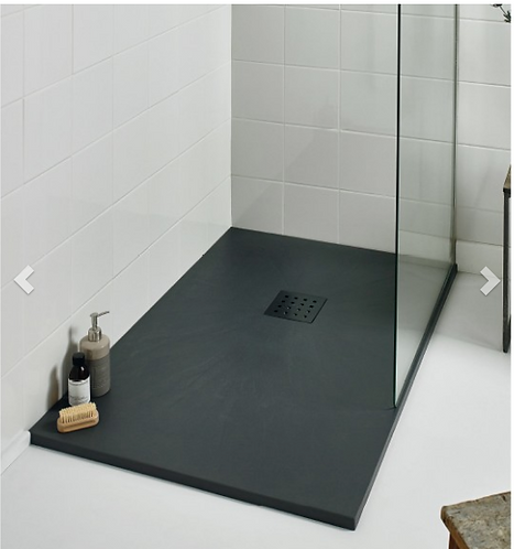 Slate Effect Shower Trays Rectangle Trays - 1200x800mm Black