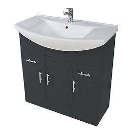 Lanza 850mm Basin Unit Anthracite With Basin