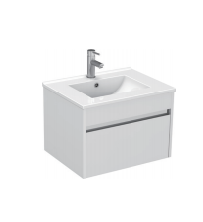 Gloss White Wall Mounted Basin 610mm - Icladd Solid PVC Furniture
