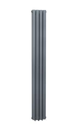 ANTHRACITE CELLSIUS DESIGNER RADIATOR 1800X236X78MM
