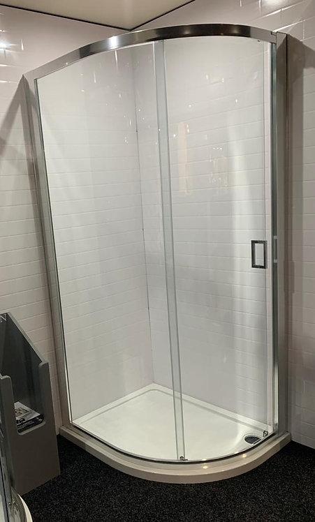 Roman One Door Offset Quadrant 8mm Glass