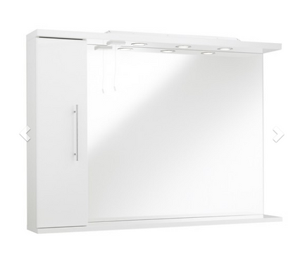 Impakt Mirror with Side Cabinet & Lights 1200mm