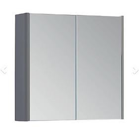 Options 800mm Mirror Cabinet - Basalt Grey