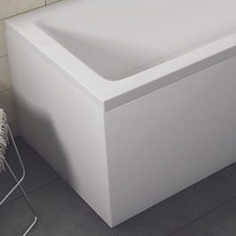 White Gloss Waterproof Bath Panel 1700mm