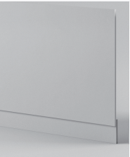 Light Grey End Panel - Icladd Solid PVC Furniture