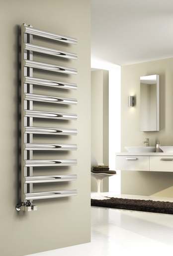 CAVO 530 X 500 POLISHED STAINLESS STEEL TOWEL RAIL