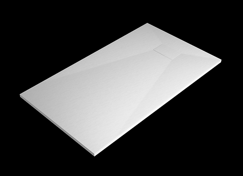 White Stone Effect Shower Tray 1500 x 700mm