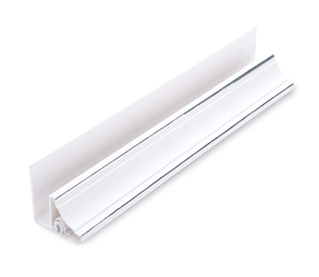 2 Part Ceiling Cover White Chrome 10mm