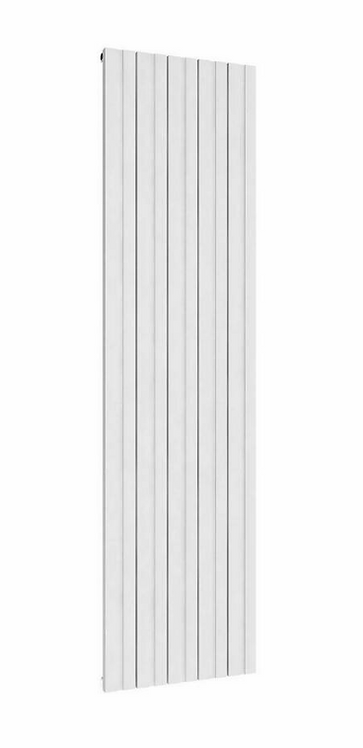 BOVA 1800 x 375 WHITE SINGLE ALUMINIUM RADIATOR