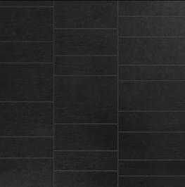 Black Stone Tile Effect - 2400 x 600 x 7mm x 2 Panels