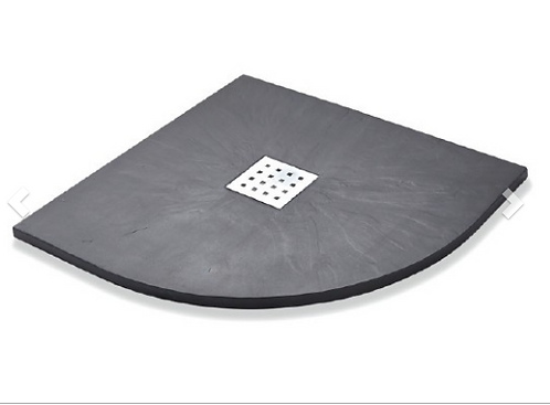 Slate Effect Shower Trays Quadrant Trays - 900mm Graphite