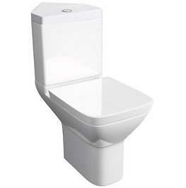 Project Square Corner C/C WC Pan with Soft Close Seat