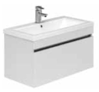 1 Drawer Basin Unit White Ridge & Basin