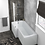 Thumbnail: HALLE LEFT L SHAPE BATH WITH SCREEN & SIDE PANEL 1500×700