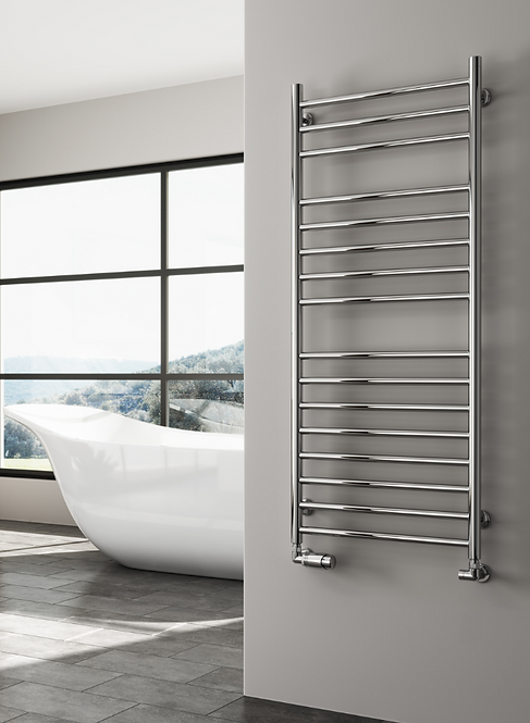 LUNA 350 X 1500 FLAT STAINLESS STEEL TOWEL RAIL