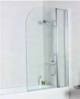 Shower Bath Screen Radius w/ Extension Panel (1400x1000)