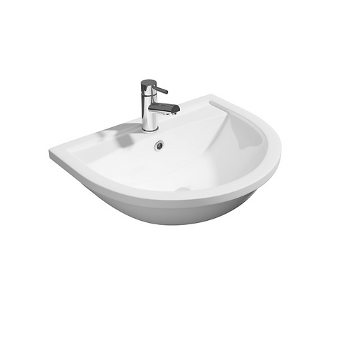 520mm 1th Semi Recessed Basin