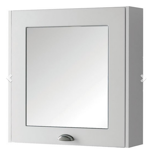 Astley 600mm Mirror Cabinet - Matt White
