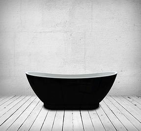 Mayfield Black Double Ended Freestanding Bath