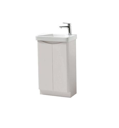 Cayo 500mm Floor Standing 2 Door Unit & Ceramic Basin - Grey