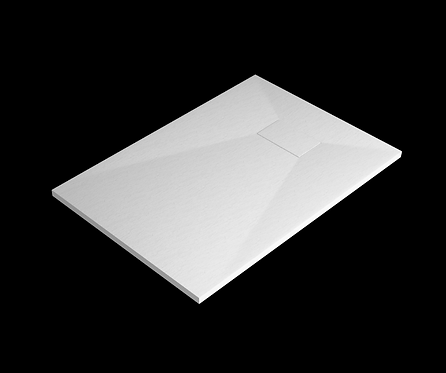 White Stone Effect Shower Tray 1000 x 700mm