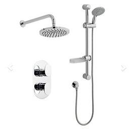 Logik Shower Option 3 Thermostatic Concealed Shower with Adjustable Slide Rail K