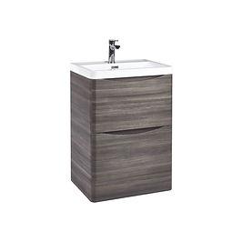 Bella 600 Floor Cabinet Avola Grey With Basin