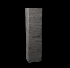 Bali Graphite Oak Wall Mounted Storage unit