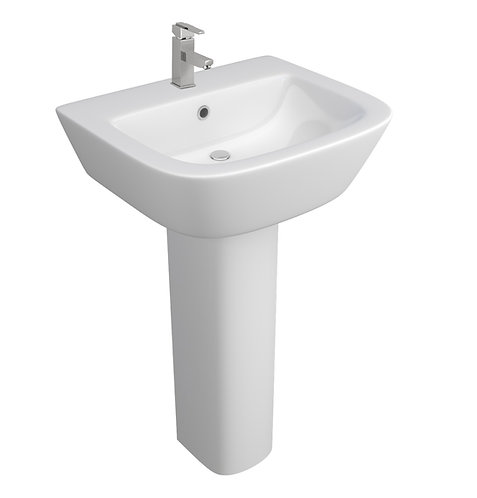Project Square 540mm 1th Basin with Full Pedestal