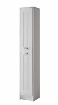 Astley Floor Standing Side Unit - Matt White