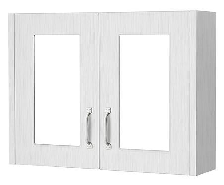 800 2 Door Wall Mounted Unit Porcelain White Ash
