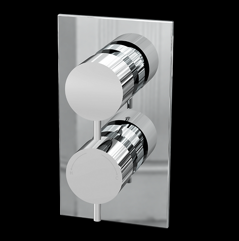 Delphin Twin Round Concealed Valve (Single Function)