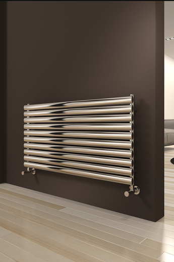 ARTENA 590 x 400 BRUSHED STAINLESS STEEL RADIATOR