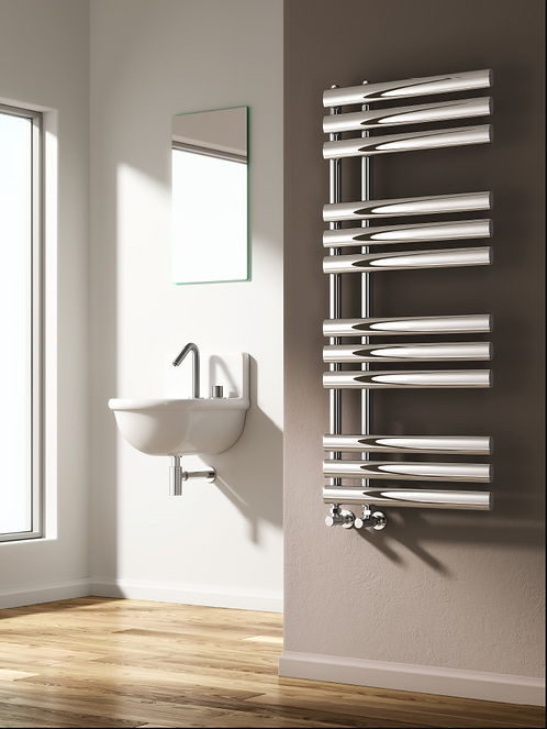 CHISA DESIGNER RADIATOR - 820 X 500 CHROME