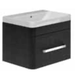 1 Drawer Basin Unit Black Quadro & Basin