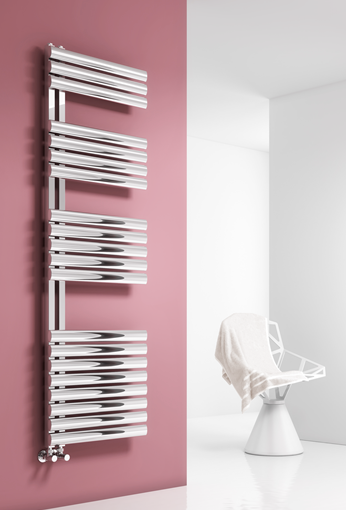 SCALO 500x1120 BRUSHED STAINLESS STEEL TOWEL RAIL