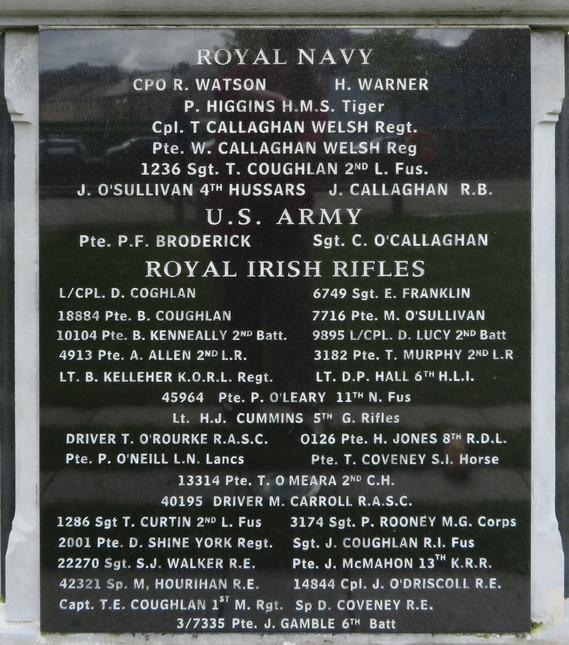 Cork WWI Memorial-back