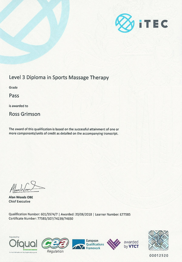 level 3 diploma in sports massage
