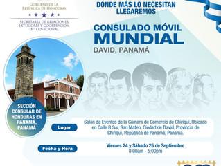Aviso importante de la Sección Consular de la Embajada de Honduras en Panamá.