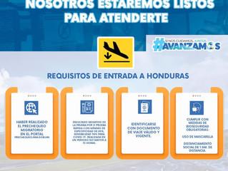Requisitos para el ingreso y salida de Honduras (Covid-19) y vacuna contra la fiebre amarilla.