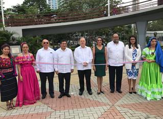 """Inauguración de la """"Plaza Centroamericana"""" y colocación de Ofrendas Florales en Conmemoración del 19"""