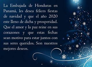 Felices fiestas de navidad y de año nuevo.