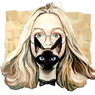 猫のチャックと少女