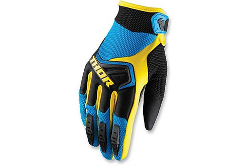 Detské motocrossové rukavice THOR Spectrum, modro-žlté
