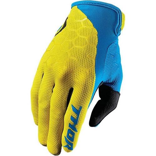 Motocrossové rukavice THOR Draft, žlté